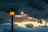Streetlight in the twilight