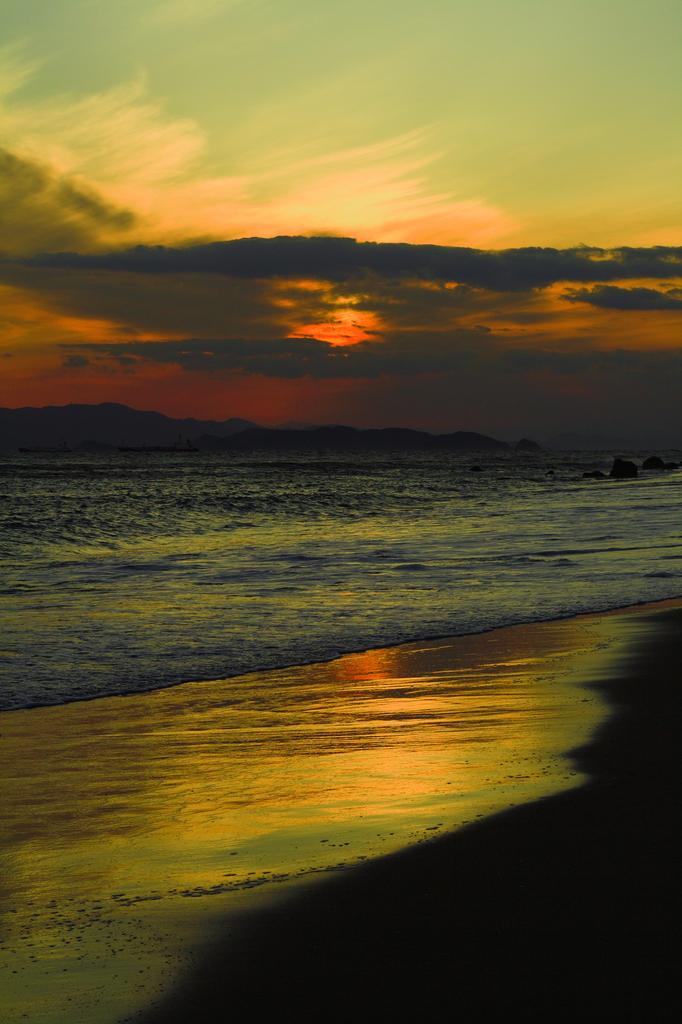 恋路ヶ浜 夕陽2