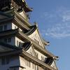 夕陽を浴びる大阪城