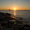 海から太陽