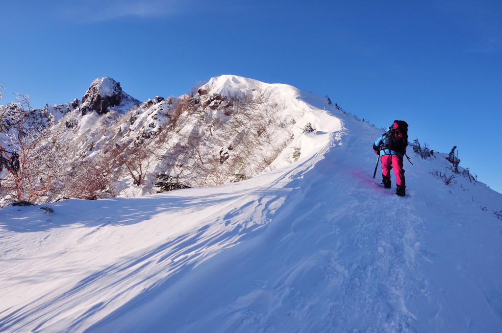 天狗岳への稜線