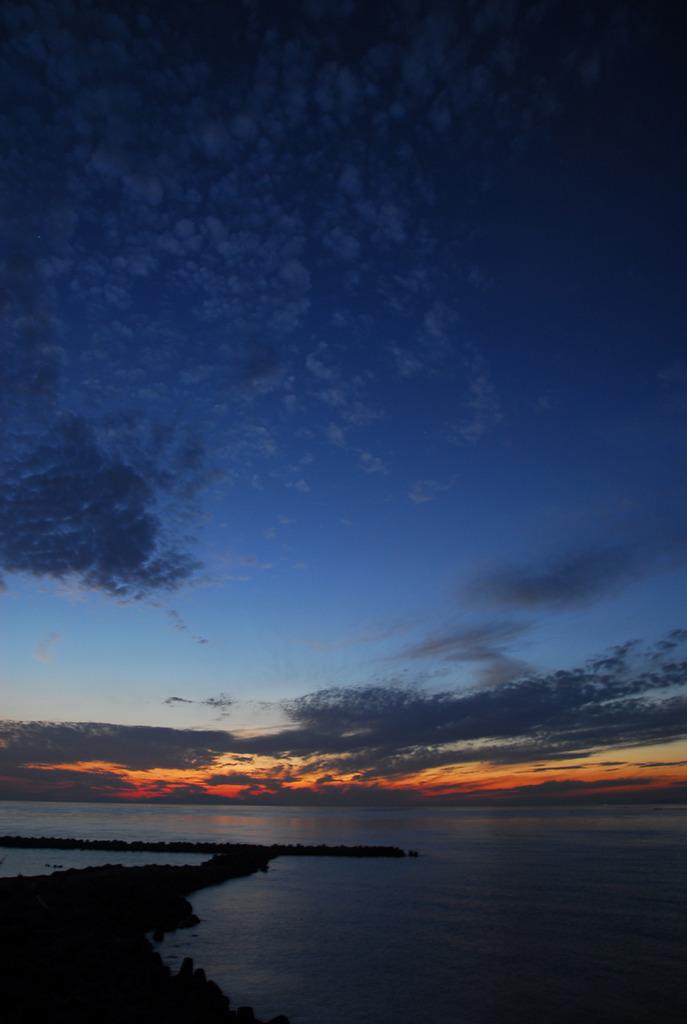 淡路島の夕日