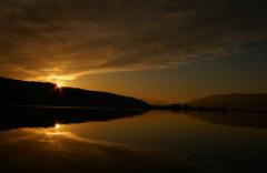 諏訪湖の初富士