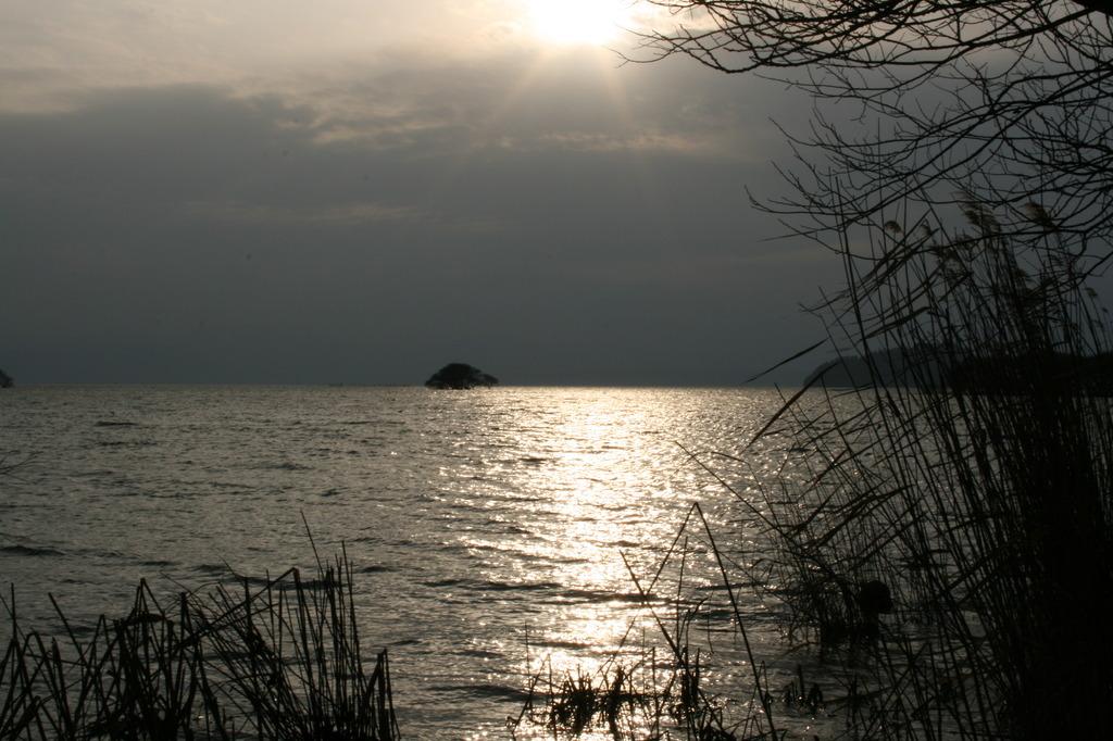 北びわ湖の夕暮れ