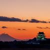 お城と富士山