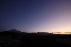 '10正月夜明けの富士