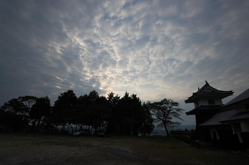 岩村城の夕景