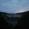 小里川ダムの夕景