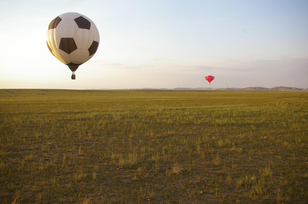 熱気球に乗って