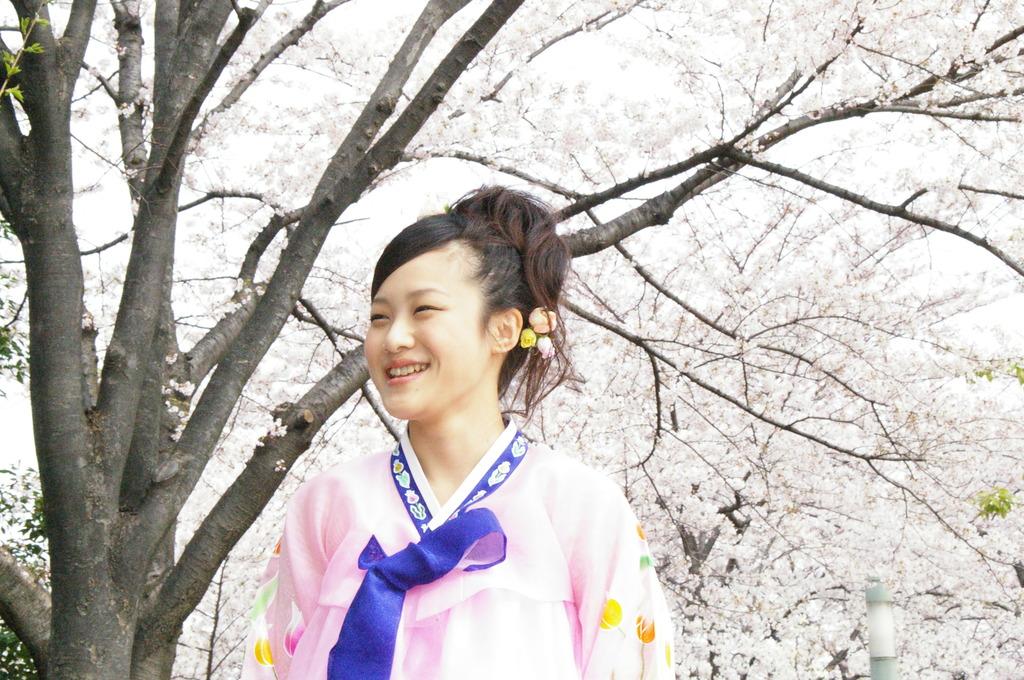 桜の木の下で・・・チョゴリ編