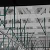 トラス構造の木組み