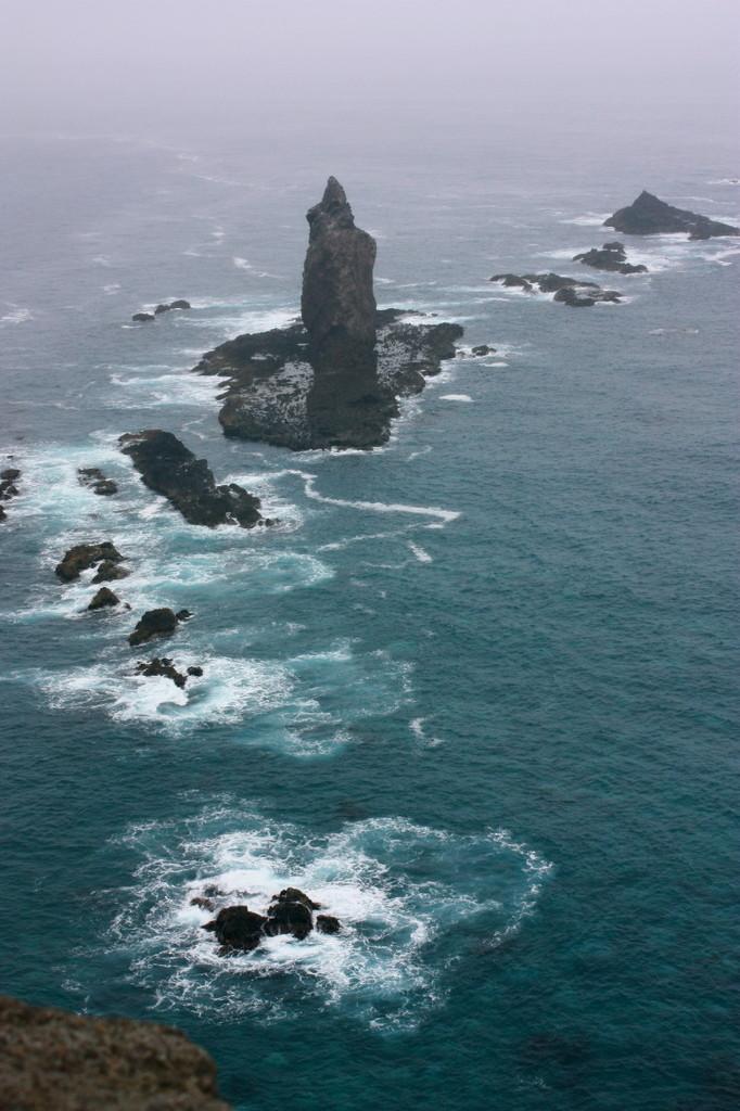 雨の神威岬