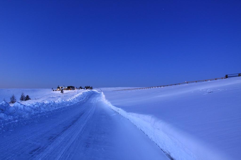 雪原に続く道