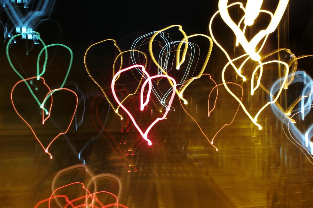街中は愛で溢れています♪