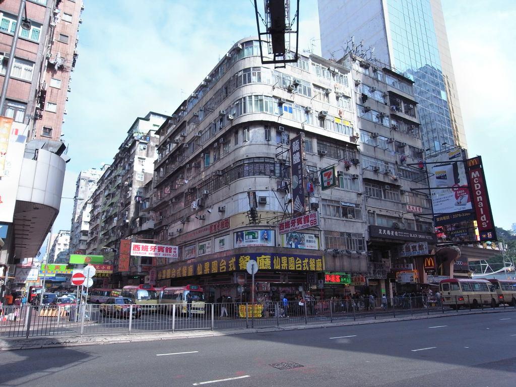 香港の欧角地区のビル
