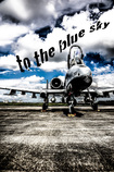 To the blue sky
