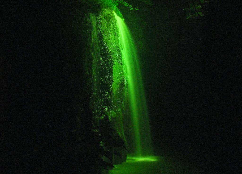 2009 高千穂峡真名井の滝・ライトアップ