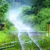 線路の湯気