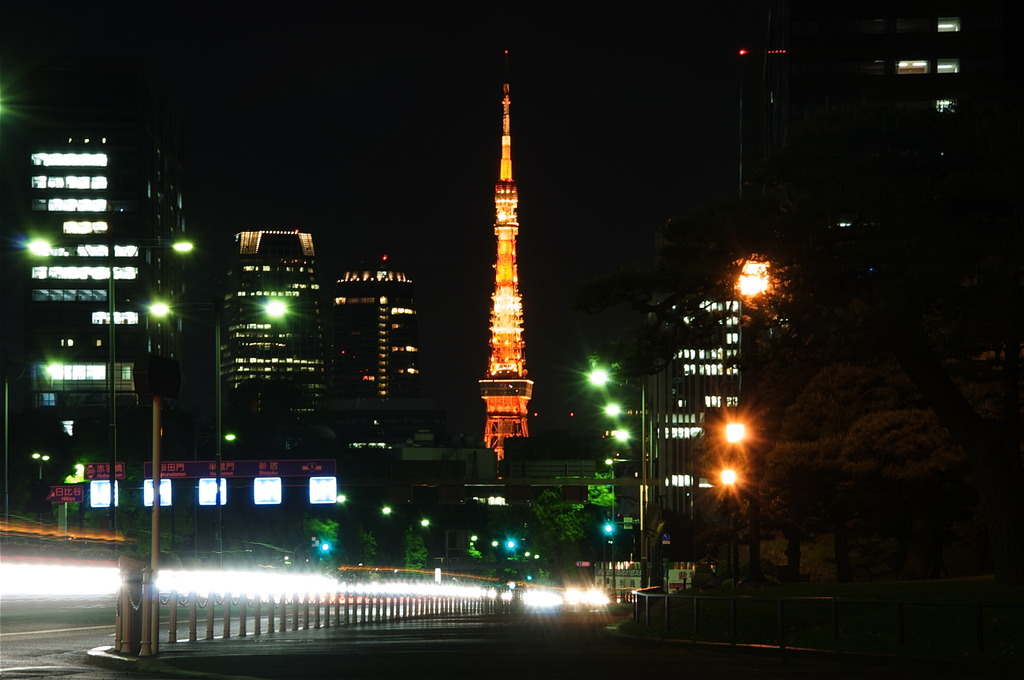 The Tokyo Tower@The Imperial Palace