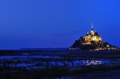 Mont Saint Michel in BLUE
