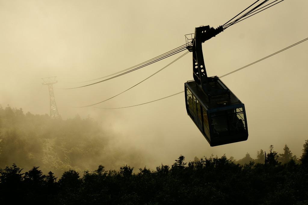 霧の中のゴンドラ