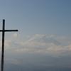 十字架と富士