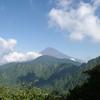 愛鷹山から富士を見下ろす