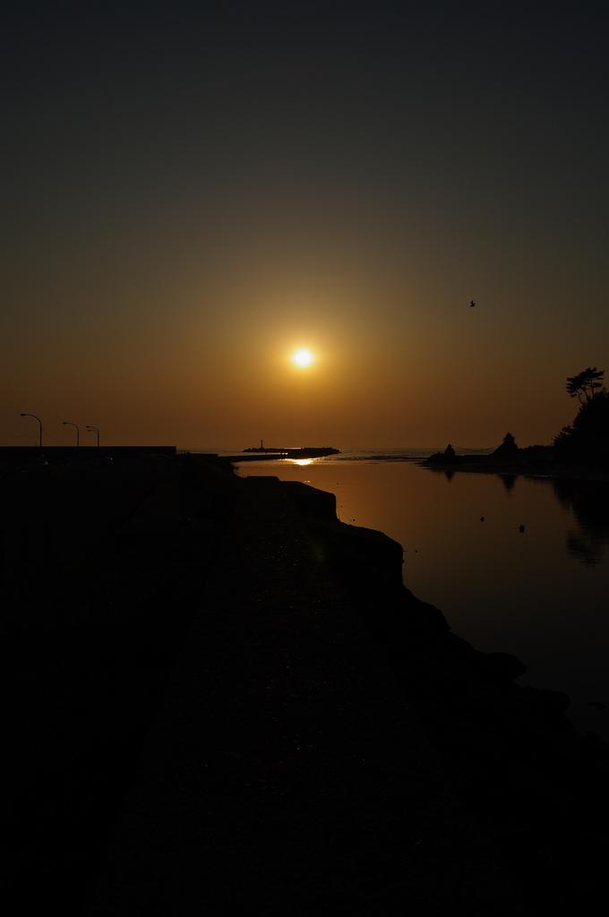 西浜の夕景
