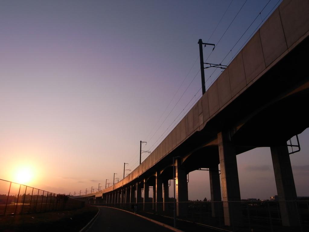 終点「夕陽」