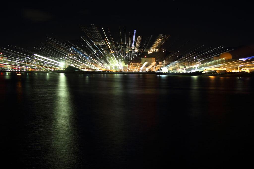 nagasaki港の花火