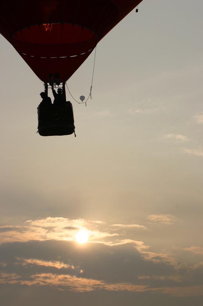気球に乗って・・・