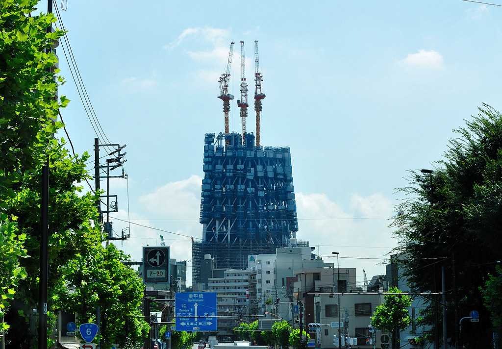 東京スカイツリー成長中