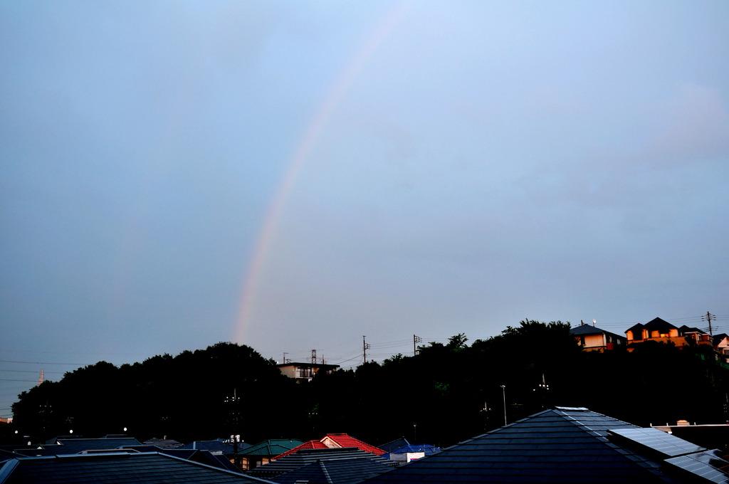 また、虹が出た~♪