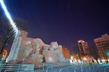 第60回さっぽろ雪まつり10丁目大雪像の夜