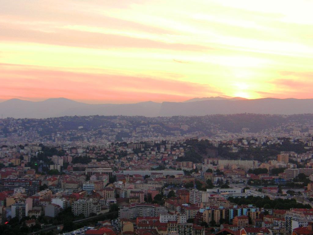 Sunset View of Nice