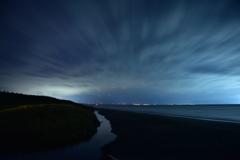 袰部川の夜景