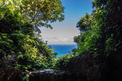 神の島を望む