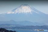 江ノ島越しの富士