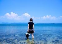 海原に立つ
