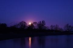伊吹山からの月の出