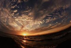 ダイナミック夕陽