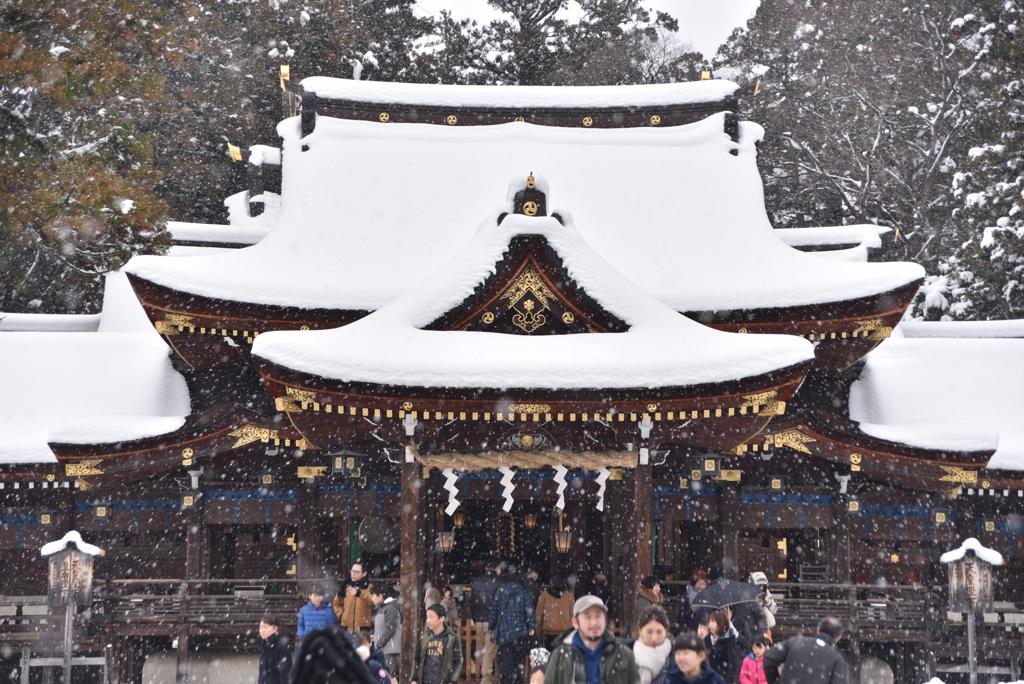 雪の日詣で