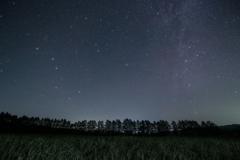 野辺山高原の北の星空