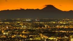 新宿の夕陽