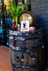 店先のワイン樽 シグマ30mmf1.4試写⑧