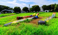 平日午後の彫刻広場 (さいたま市 北浦和公園)