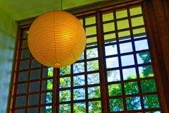 和紙を使った照明  (江戸東京たてもの園 西ゾーン)