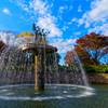 碧空とカナールの噴水② 昭和記念公園にて