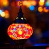 トルコモザイクランプの灯り (谷中銀座)
