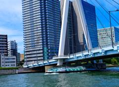 中央大橋の下を遊覧船が行く (中央区 隅田川)